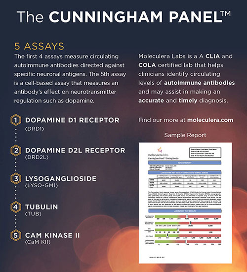 Cunningham Panel helps identify the level of autoimmune antibodies associated with PANS and PANDAS