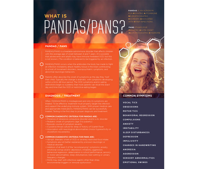 PANS and PANDAS Patient Education Handout