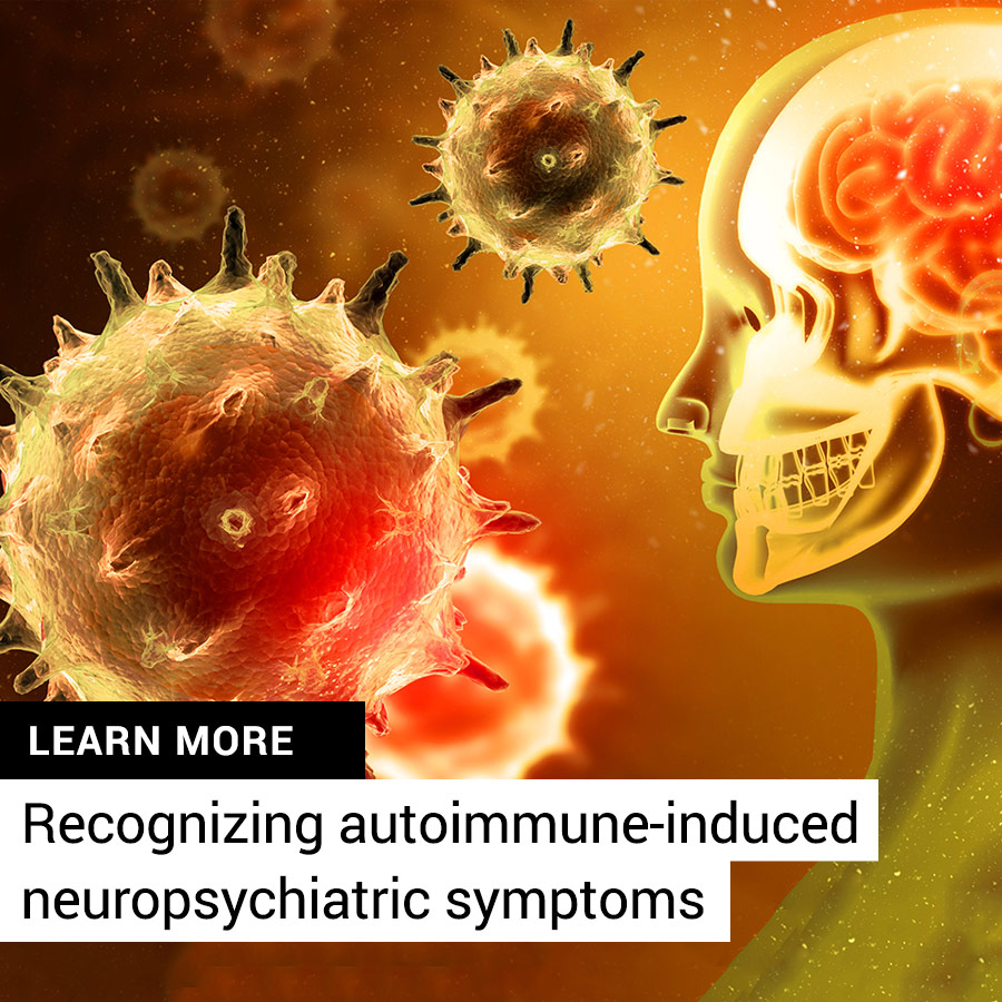 Antibodies attacking brain tissue can trigger neuropsychiatric symptoms